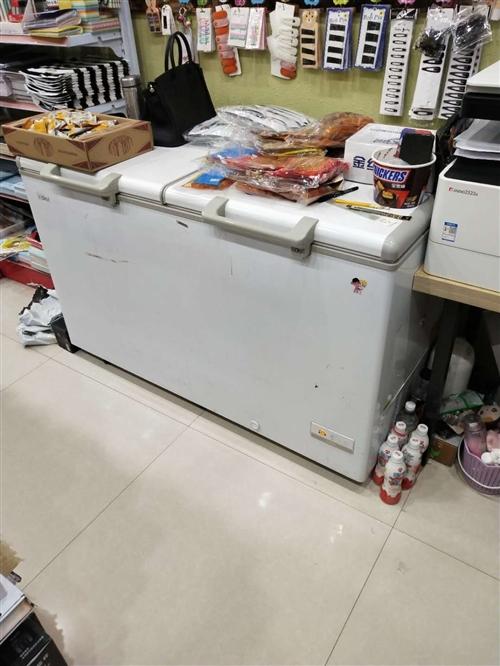Haier/海爾冰柜冷藏冷凍柜商用家用大容量臥式單溫,429L,長寬高,1410/745/905。。...