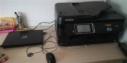 轉讓愛普生多功能打印機加戴爾筆記本電腦,打印機8成新,有意者聯系我15053472005