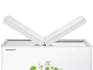 容�(Ronshen) 223升 冰柜家用商用 冷藏冷�鲭p�仉p箱冷柜 蝶形�T �能大容量�P式冰箱 B...