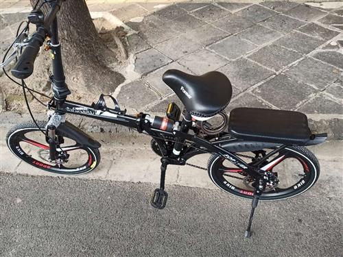 上海永久牌折叠自行车双减震碟刹,骑了一个月