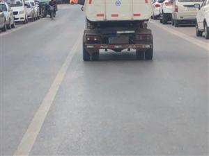 合阳县城垃圾车疑似故意遮挡号牌