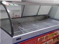 本人出售九成新的展示柜长2米,宽87CM,高1.3米预售2400元。和刚买美菱牌冰柜一台预售900元...