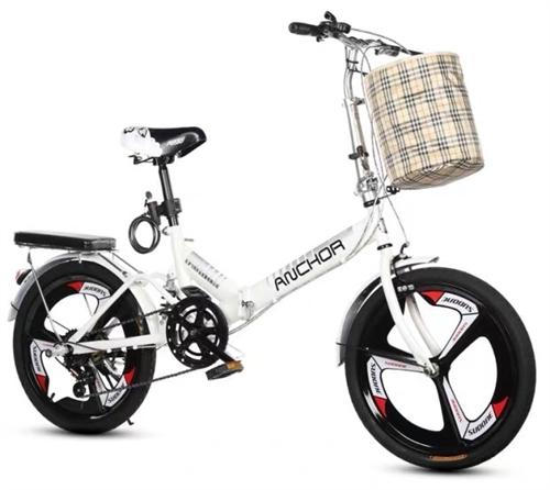 飛鴿鐵錨折疊小型單車20寸超輕便攜白色變速帶減震自行車,95新,買回來只騎了幾次,有緣人可以買回去給...