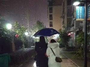 7495雨夜中坚强背影