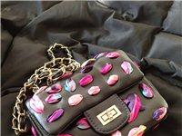 綢帶個性鏈條單肩包,可以放手機錢包,口紅,非常時尚個性