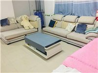 整套沙发转让布料可拆洗