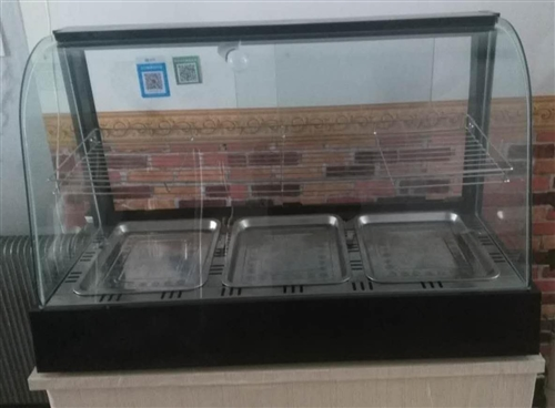 崭新保温柜,只用几天,钢框,钢化玻璃,保温性能好,结实耐用