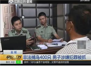 一男子非法捕杀野生鸟类400余只被拘